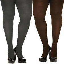HARD TO FIND TORRID PLUS SIZE GRAY /  BROWN SPANDEX OPAQUE TIGHTS 1X/2X OR 3X/4X