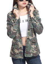 Da Nang Womens Vintage Outdoor Long Sleeve Outfitter Military Camouflage Jacket