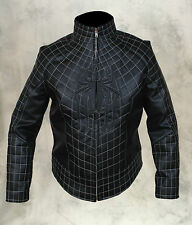 The Amazing Spider Man 2 Real Sheep/Faux Men's Leather Costume Jacket in Black