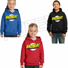 Bazinga The Big Bang Theory Kids Unisex Hooded Sweatshirt Hoodie 5-6 to 12-13