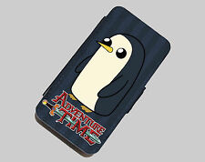 New Adventure Time With Finn & Jake PU leather flip wallet case iphone 4 4s 5 5s