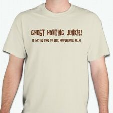 Paranormal Ghost Hunting Unisex Beige T-Shirt Silk Screen Print Sizes S,M,L,XL