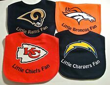 NFL Little Fan INFANT BABY BIBS~Polyester/Cotton~NWT~