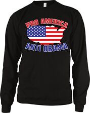 Pro America Anti Obama USA Flag GOP Conservative Right Wing Long Sleeve Thermal
