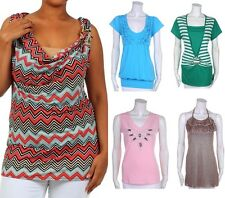 New Mixed Lot of Woman's Missy Plus Blouses, Tops, and Tanks Fashion Central
