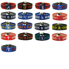 leather baseball bracelet team color gamewear MLB PICK YOUR TEAM