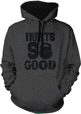 Hurts So Good Kettlebell Weight Lifting Exercise Fitness 2-tone Hoodie Pullover