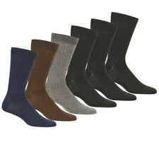 6~12 Pairs Lot Knocker Men's Solid Assorted Colors Ribbed Dress Socks size 10-13
