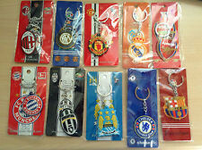 Football Club Rubber Keyrings(All main euro League) / Bag Clips Football Present