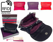 Mala RFID Ladies Quality Real Leather Frame Purse Zip Wallet Coin Clasp Security