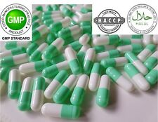 LIGHT GREEN-WHITE Empty Vegetable GELATIN Pill Capsules Size 2 REFILLING POWDER