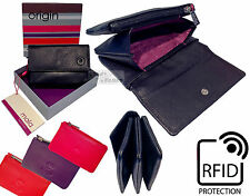 Mala RFID Ladies Quality Real Leather Tri Pocket Purse Coin Credit Card Zip Flap