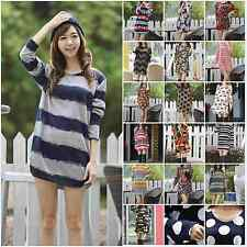 Casual Maternity Sweaters Long Sleeve Womens Tops Pattern Pregnant Women Blouses