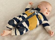 Newborn Kids Baby Boys Striped Long Sleeve Cutton Romper Jumpsuit Clothes 0-12M