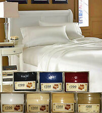 1200 SERIES QUEEN SIZE WRINKLE FREE SOFT MICROFIBER SOLID COLOR SHEET SET 4PIECE