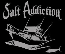 Saltwater fishing decal,Salt Addiction Brand sticker,Boat,offshore,life,marlin