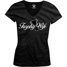 Trophy Wife Bride Newlywed Married Funny Humor Joke Gift Juniors V-neck T-shirt