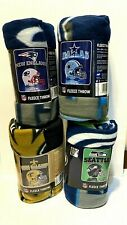 """NFL Fleece Throw Blanket 50"""" X 60"""" YOU PICK THE TEAM~Mirror or Marquee Style"""
