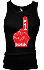 #1 Number One Sister Family Birthday Present Gift Idea Boy Beater Tank Top