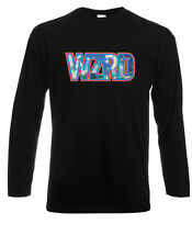 "New KID CUDI ""WZRD"" Rap Hip Hop Soul Music Long Sleeve Black T-Shirt Size S-3XL"