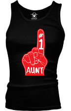 #1 Number One Great Aunt Family Birthday Present Gift Idea Boy Beater Tank Top