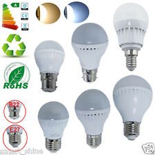 6 x B22 BC E27 ES 3W 5W LED SMD Globe Bulbs Spot Light Bayonet Golf Ball Lamp UK