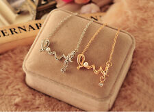 2017 New Fashion Alloy Twist LOVE Crystal Pearl And Moustache Pendant Necklace