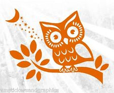 Owl in Tree vinyl wall sticker art decal home living room bathroom wise car SUV