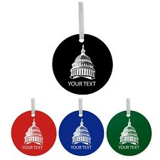 Personalized Custom Capital Building Colorful Acrylic Christmas Tree Ornament