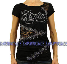 Sinful Skittler Cap S3325 New Women`s Burnout Black Top By Affliction