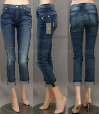 $215 NWT 7 SEVEN FOR ALL MANKIND JEANS RELAXED SKINNY LEROUCHE AUTHENTIC BLUE