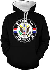 Made In America USA United States of America Pride 2-tone Hoodie Pullover