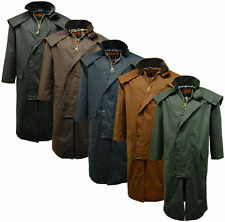 new Mens Game Stockman Long Cape Horse Riding Wax Country walking Coats Jackets