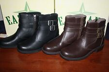 NIB Womens Leather Eastland Whistle Stop Boots Riding Short Boot brown/black $90