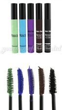 Colored Mascara waterproof Lengthening Thickening 5 colors Silicone Brush (P23)