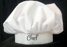 PERSONALIZED & FREE SHIP ! HALLOWEEN COSTUME BAKER CHEF HAT COOKING NOVELTY CAP