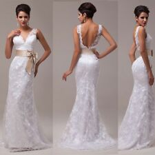 NEW LACE DESIGN BACKLESS Bridesmaid HOMECOMING PROM Gown WEDDING Dress PLUS SIZE