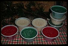 NELLIE'S ACRES NATURAL PALM WAX TARTS in a CUP..2 OZ EACH~~21 SCENTS~~