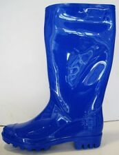 SOS Women Knee High Pull Up Rubber Wellies Galoshes Riding Rain Boots