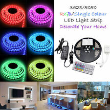 3528 5050 5M White/RGB 300 SMD 12V LED Flexible Strip Light Waterproof