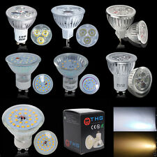 UK Stock Bright 3W/4W/6W GU10 MR16 LED Spot Light Bulbs Warm Day White SMD Lamps