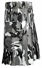 Grey Camouflage Utility Kilt Cotton Drill Military Highland Gothic Army