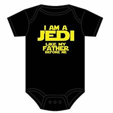 STAR WARS BABYGROW I AM A JEDI LIKE MY FATHER BEFORE ME ASST COLOURS 0-18 MONTHS