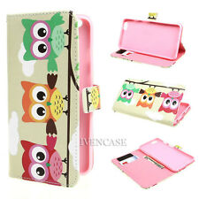 Wallet C38 Owl Flip PU Leather Case Cover For Many Smart Cell Phones + 2 Gift