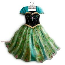 2014 frozen Anna Coronation Gown Child Costume Princess Girl Fancy Party Dress