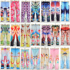Girls Frozen Prince Digital printing Skinny Leggings Kids Pants 5-12Y New