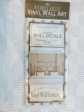 Removable Peel and Stick Decorative Vinyl Wall Lettering 5x40in NIP