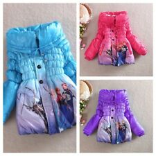 Frozen Princess Anna queen elsa Snowsuis Outwear Kid Slim Lined Coat Jacket
