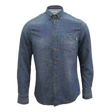 MISH MASH SHIRT DEVOTION MENS FLORAL LONG SLEEVE DENIM TOP