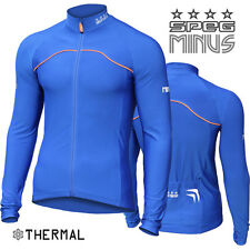 SPEG 'MINUS' Winter Thermal Cycling Cycle Bike Jersey Blue Shirt: MSRP: $64.95